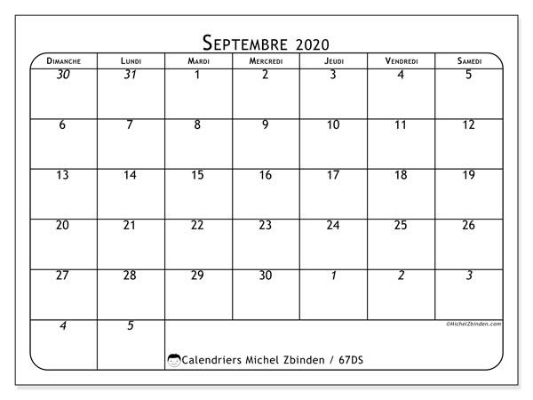 Calendrier Septembre 2020 Septembre 2019.Calendrier Septembre 2020 67ds Michel Zbinden Fr