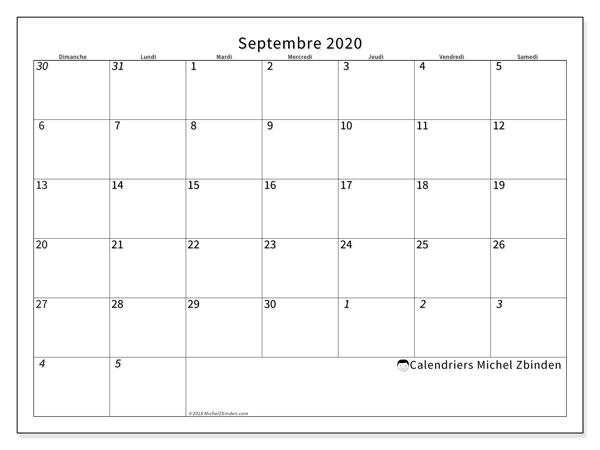 Calendrier Septembre 2020.Calendrier Septembre 2020 70ds Michel Zbinden Fr