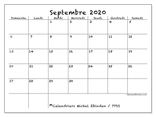 Calendrier De Septembre 2020.Calendrier Septembre 2020 77ds Michel Zbinden Fr