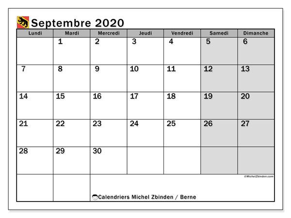 Calendrier Septembre 2020 Septembre 2019.Calendrier Septembre 2020 Canton De Berne Michel Zbinden Fr