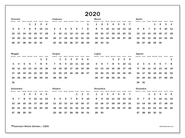 Calendario 2020 32ds Michel Zbinden It