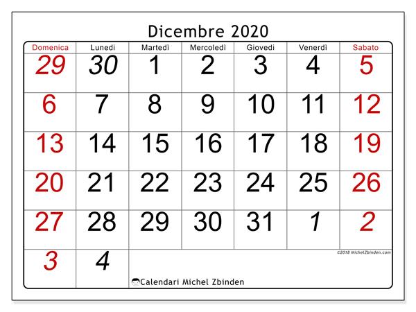 Dicembre Calendario 2020.Calendario Dicembre 2020 72ds Michel Zbinden It