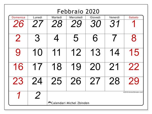 Calendario Gennaio 2020 Da Stampare.Self Auto Driven 10 Febbraio 2020