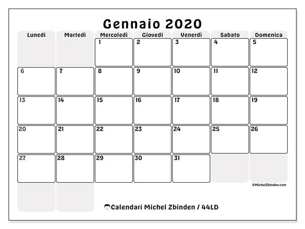 Immagini Calendario 2020 Gennaio.Calendari Gennaio 2020 Ld Michel Zbinden It
