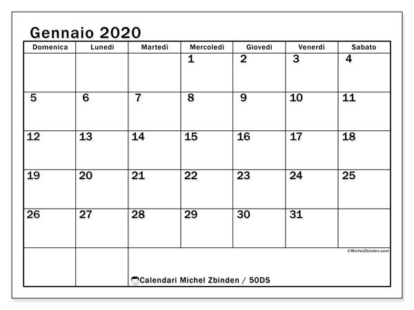 Immagini Calendario 2020 Gennaio.Calendari Gennaio 2020 Ds Michel Zbinden It