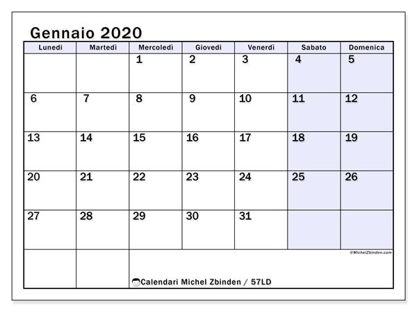 Calendari Gennaio 2020 Ld Michel Zbinden It