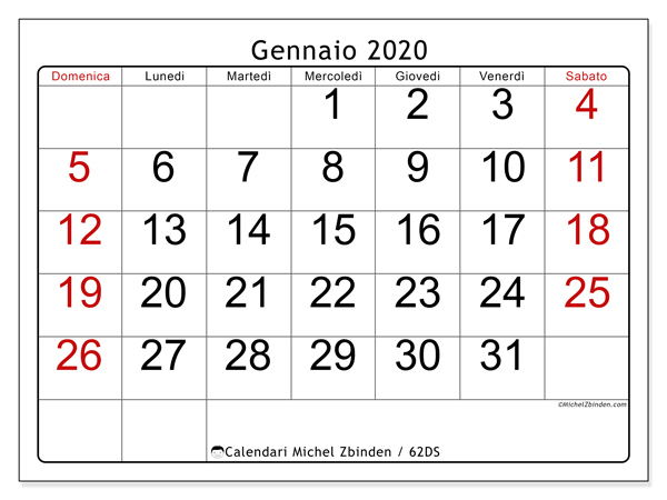 Calendario Luglio 2020 Pdf.Calendari Da Stampare 2020 Ds Michel Zbinden It