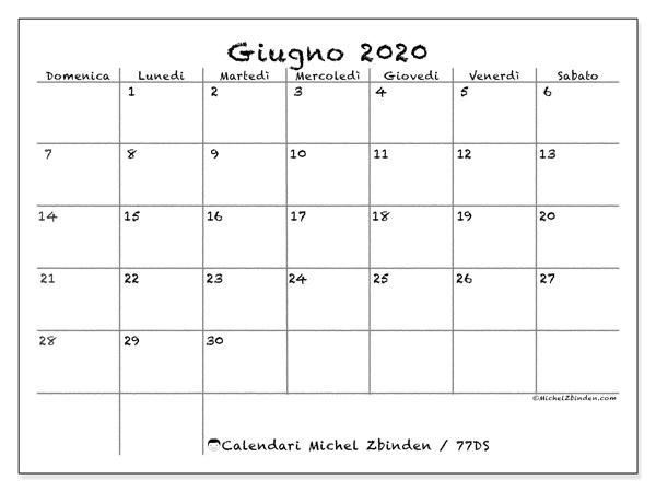 Calendari Da Stampare 2020 Ds Michel Zbinden It