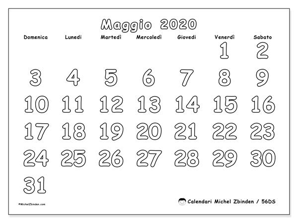 Calendario Da Colorare.Calendario 56ds Maggio 2020 Da Stampare Michel Zbinden It