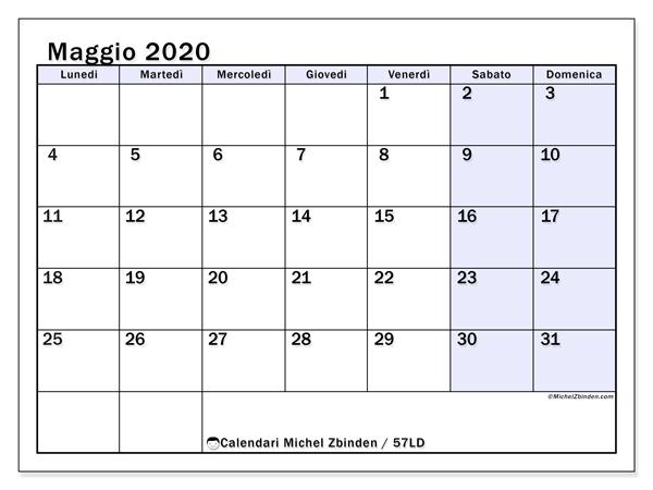 Calendario Maggio 2020.Calendario Maggio 2020 57ld Michel Zbinden It