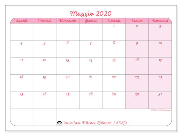 Calendario Maggio 2020 Da Stampare.Calendario Maggio 2020 63ld Michel Zbinden It