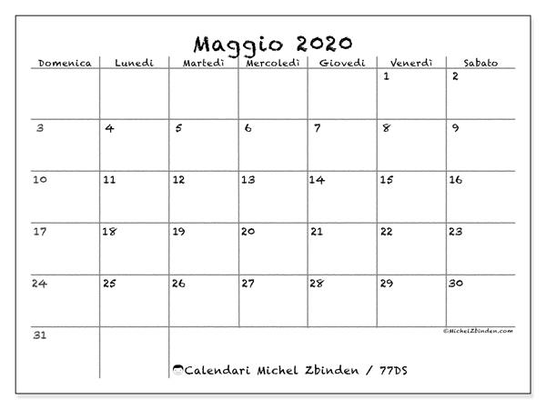 Calendario Maggio 2020 Da Stampare.Calendario Maggio 2020 77ds Michel Zbinden It