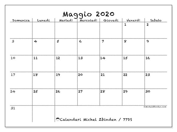 Calendario Maggio 2020.Calendario Maggio 2020 77ds Michel Zbinden It