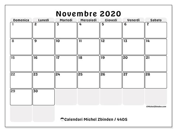 Novembre 2020 Calendario.Calendario Novembre 2020 44ds Michel Zbinden It