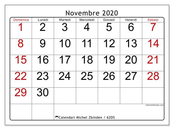 Novembre 2020 Calendario.Calendario Novembre 2020 62ds Michel Zbinden It