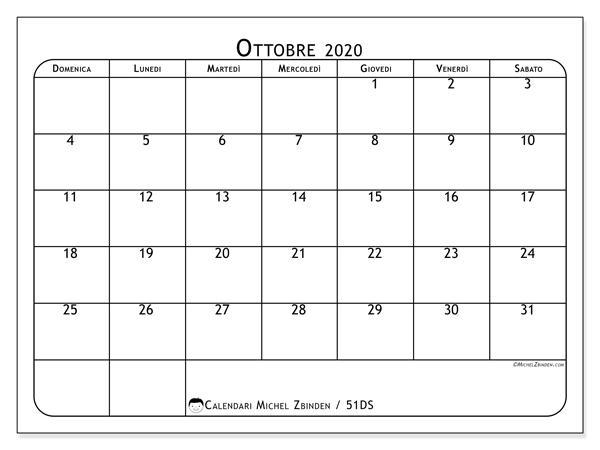 Calendario Mese Ottobre 2020.Calendario Mese Ottobre 2020 Calendario 2020