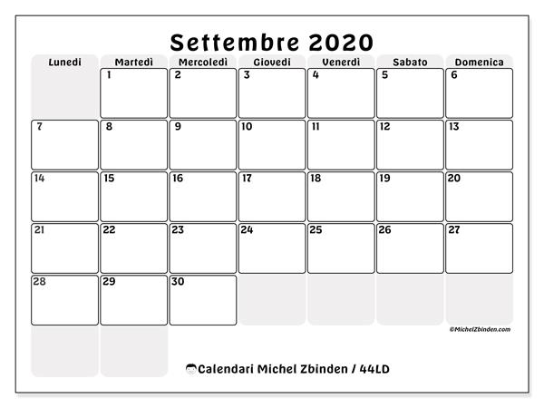 Calendario Settembre2020.Calendario Settembre 2020 44ld Michel Zbinden It