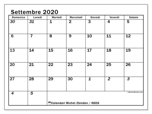 Calendario Settembre2020.Calendario Settembre 2020 66ds Michel Zbinden It