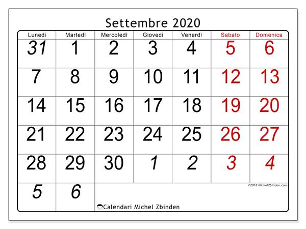 Calendario Settembre2020.Calendario Settembre 2020 72ld Michel Zbinden It