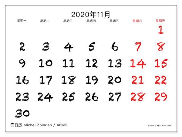 2020 年 11 月