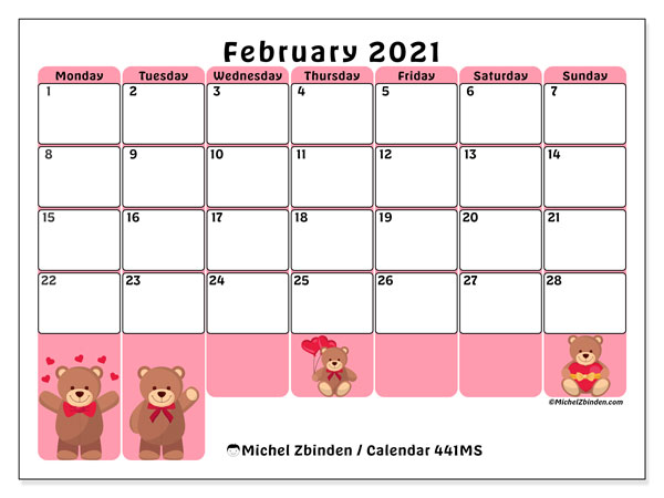 February 2021 Calendars Monday Sunday Michel Zbinden En Online calendar 2021 with templates for word, excel and pdf to download and print. february 2021 calendars monday sunday michel zbinden en
