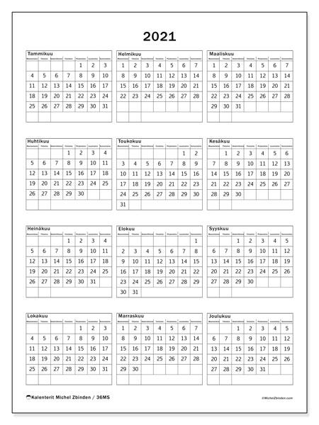 2021 Viikkokalenteri