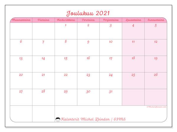 Kalenteri Joulukuu 2021