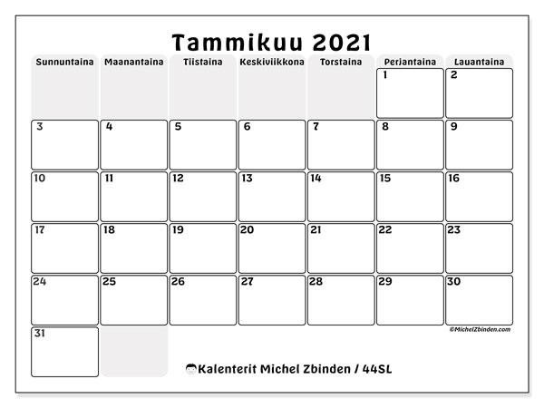 Kalenteri Huhtikuu 2021