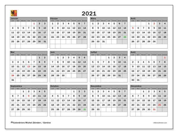 Calendrier 2021 Gratuit.Calendrier 2021 Canton De Geneve Michel Zbinden Fr