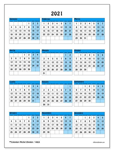 Calendario 2021, 40LD. Calendario stampabile gratuito.