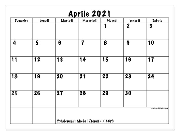 "Calendario ""48DS"" aprile 2021 da stampare   Michel Zbinden IT"