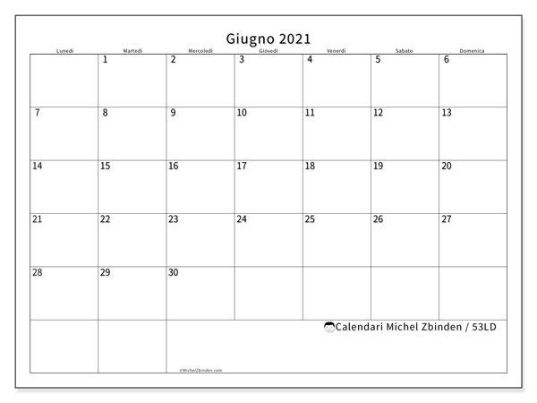 Calendario giugno 2021   53LD   Michel Zbinden IT