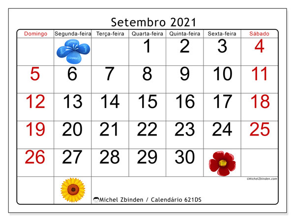 Calendario 621ds Setembro De 2021 Para Imprimir Michel Zbinden Pt