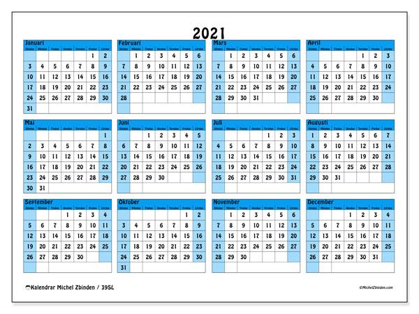 Årskalender 2021 - 39SL - Michel Zbinden SV