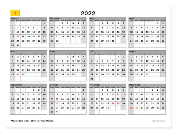 Unm 2022 Calendar.Printable 2022 New Mexico Calendar Michel Zbinden En