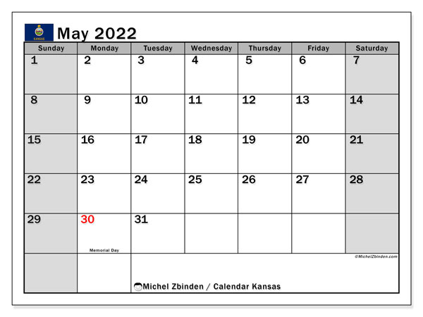 Blank Calendar May 2022.Printable May 2022 Calendar Michel Zbinden En